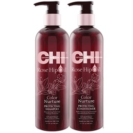 Dầu Gội Xả CHI Rose HIPOIL Color Nurture Protecting 340ml/739ml