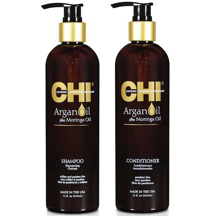 Dầu Gội Xả CHI Argan Plus Moringa Oil 355ml/750ml